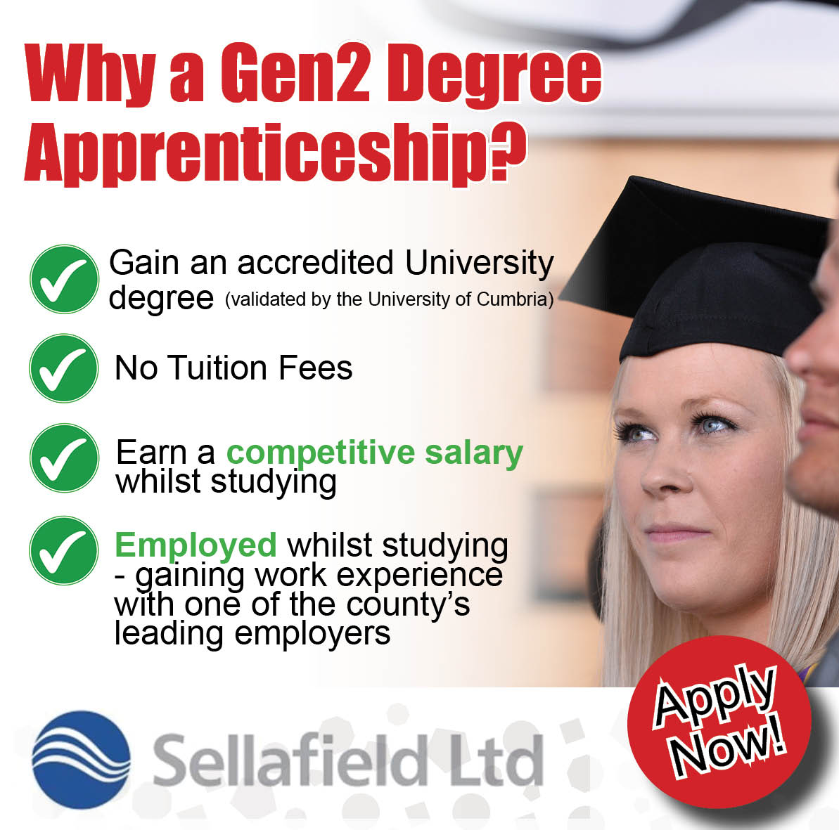 Sellafield degree push apply now